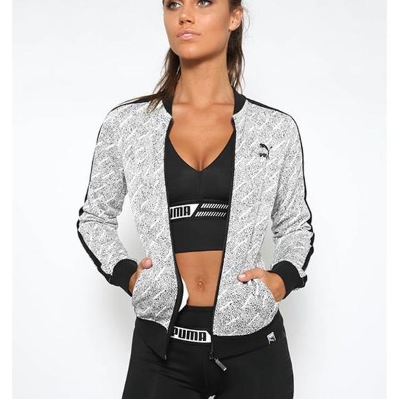 fa24df51f0ef NWT Puma Classic T7 AOP Black White Track Jacket